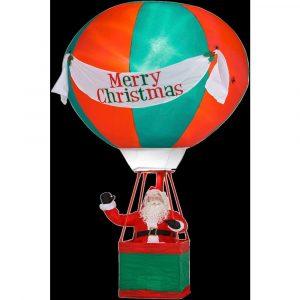 15 ft Airblown Santa in Hot Air Balloon