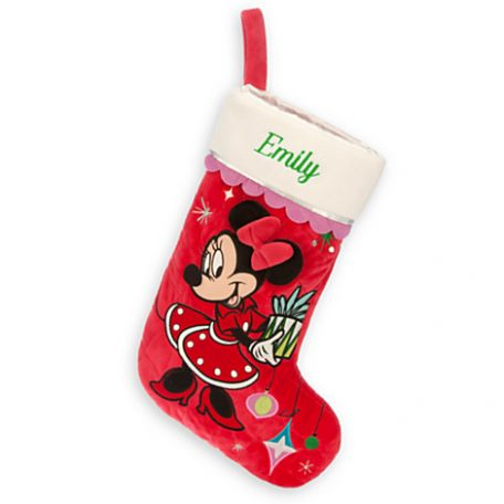 Minnie Mouse Holiday Stocking Personalizable