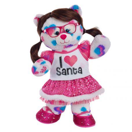 Santas Fan Hearts & Hugs Bear