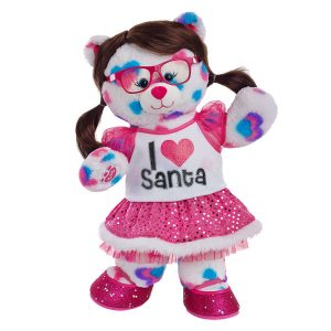 Santas Fan Hearts & Hugs Bear