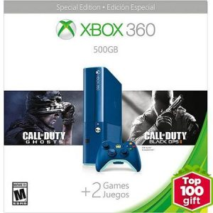Xbox 360 500GB Special Edition Blue Console Bundle with Call of Duty