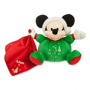 Santa Mickey Mouse My First Christmas Plush